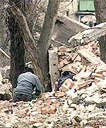 Groznyj ligger i ruiner etter den russiske krigsoffensiven. (Foto: TF1)