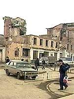 Etter russisk artilleribeskytning og bombing ligger mesteparten av Groznyj i ruiner. (Foto: TF1)