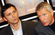 """Jagland og Stoltenberg er ikke venner, men har et """"greit"""" forhold. (Foto: Scanpix/Heiko Junge)"""