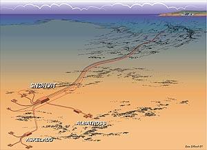 Kart Snøhvit-feltet