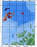 Kart over Snøhvit-feltet.