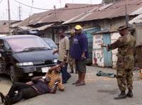 Da soldatene først gikk inn i Lagos, ble det raskt rolig. (Foto: Saurabh Das, Ap)