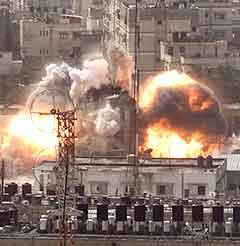 Israelske styrker skjøt også i dag mot mål i Gaza. (Foto: AP)