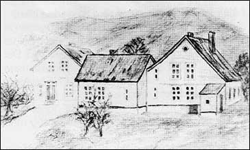Nedre Florøen kring 1860.