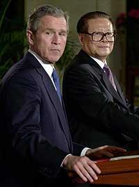 George W. Bush håper på å overbevise Kinas president Jiang Zemin under deres møte på ranchen til Bush.