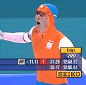Jochem Uytdehaage ble førstemann under 13 minutter på 10.000 meter under OL i fjor.