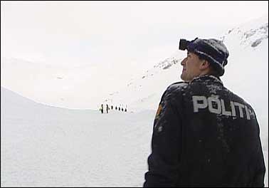 Ras på Strynefjellsvegen. Arkivfoto NRK
