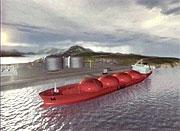 Slik ser utbygger Statoil for seg at LNG-terminalen på Melkøya vil se ut om få år.