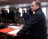 Torsdag var polities dag i Orderudsaken. Her er Kripos-etterforsker Jarle Utne Reitan i vitneboksen. Foto:Morten Holm / SCANPIX