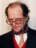 Ibrahim Rugova vitnet i Krigsforbryterdomstolen i Haag i dag. (AP-Scanpix-foto)