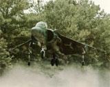 Harrier er en særegen jagerflytype som kan ta av og lande vertikalt.