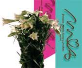 Märtha-liljer er sentral i designprogrammet for bryllupet. Liljene er også med i buketten som er godkjent som lisensprodukt.