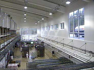Tine Meieriet Vest sist anlegg for konsummjølk på Byrkjelo har 55 tilsette. (Foto: NRK)