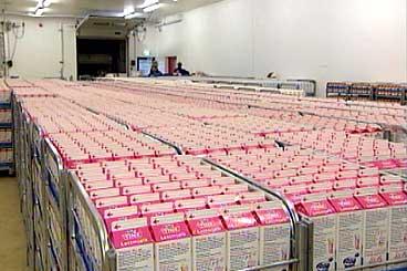 I 1996 var det bygt spesialmeieri for konsummjølk på Byrkjelo. (Foto: NRK)