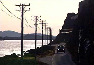 Ved Nesefjorden i Solund. (Foto: Aasulv C. Austad, NRK)
