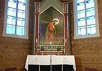Altartavla i Hyllestad kyrkje.