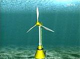 """""""Vindmøller"""" plasseres på havbunnen og drives av sjøstrømmen."""
