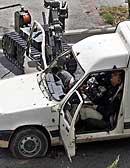 Bilen som var innblandet. (AP/Jerome Delay)