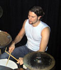 Andreas Jentoft på trommer