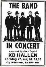 The Band spilte i København i 1971.