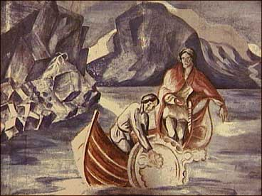 Audun Hugleikson Hestakorn bygde seg opp stor rikdom. (Måleri av © Ludvig Eikaas)
