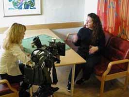 Veronica Orderud intervjuet av Cecilie Ellingsen.