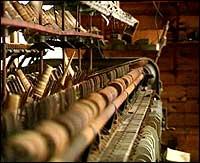 Maskineri i den gamle ullvarefabrikken.