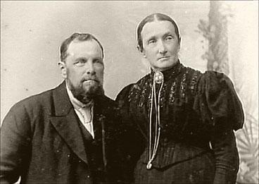 Olai Tenden og kona Wilhelmine Tenden.