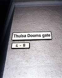Thulsa Doom har omdøpt Therese gate i Oslo til Thulsa Dooms gate. (Foto: promo).