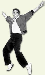 Den originale Elvis var mer kjent for hofte- enn beinteknikken.