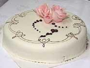 Morten Carlson vil ikke avsløre om det er slik den ferdige kaka skal se ut.