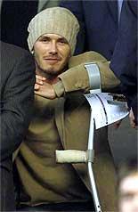 David Beckham må kanskje finne fram krykkene igjen.