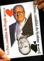 Fortsatt motstandere: Chirac og le Pen. (Foto: Scanpix)