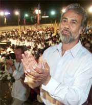Xanana Gusmao overvar seremonien i natt. Han tas i ed som landets president. (Foto: AP/Scanpix)