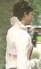 Jakke av glidelåser: Märtha bar den til brorens bryllup