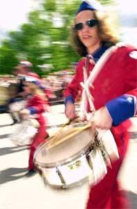 På nasjonaldagen står kulturskolen sentralt både med musikk og dugnadsarbeid. Bykle kommune i Setesdal bruker mest penger per innbygger på kultur. Foto: Ola A. Thorby/Scanpix.