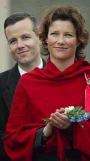 Prinsesse Märtha Louise og Ari Behn i Trondheim 17. mai i år. Foto: Scanpix