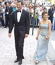 Prins Philipe og kronprinsesse Victoria kom sammen til den kongelige konserten.