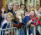 Mange småprinsesser i Trondheim (foto: Scanpix).