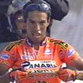 Etappevinner Julio Perez Cuapio viste stolt fram lagets logo i mål, men laget er rammet av flere dop-avsløringer.