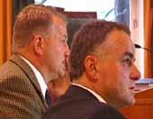 Kjetil Omholt og Jon Borgen er fornøyd med dommen.