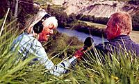 Kari Bay Haugen intervjuer Jan-Yngvar Kiel for Naturens verden. (Foto: Jon-Annar Fordal)