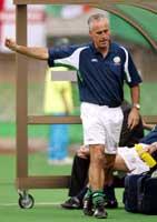 Her er McCarthy i aksjon som manager for Irland. En jobb som ble preget av en krangel med kaptein og stjernespiller Roy Keane.