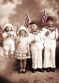 Alf, Sonja, Rubin og Paul var noen av barna som kom til Norge.