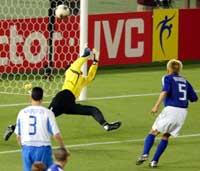 Junichi Inamoto scoret målet da Japan slo Russland 1-0.