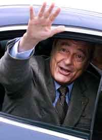 President Jacques Chirac styrte mot seier også i parlamentsvalget.