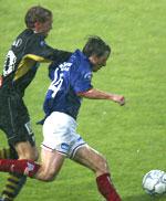 Stian Ohr gav Vålerenga ledelsen midtveis i første omgang.
