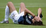Hernan Crespo var fortvilet etter at Argentina ble slått ut av VM.