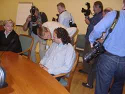 Gamal Hosein i retten like før rettens avgjørelse blir offentliggjort.