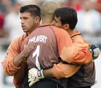 Jose-Luis Chilavert gjorde flere tabber da han sto spilte for Paraguay i sommerens VM.